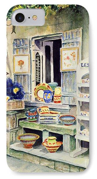 IPhone Case featuring the painting Les Baux by Karen Fleschler