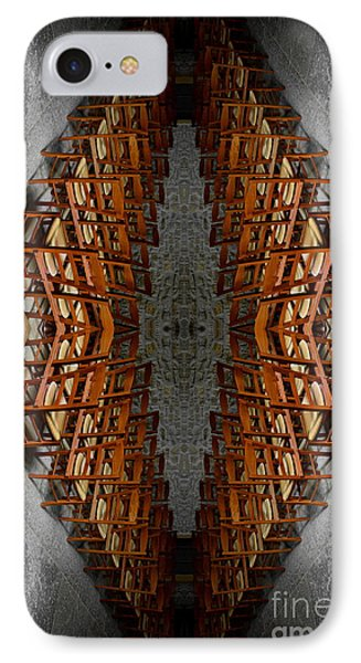 Les Chaises Vides - Empty Chairs IPhone Case by Lange Stephane