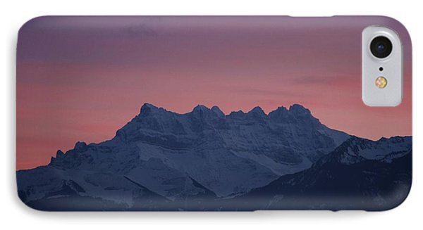 Les Dents Du Midi IPhone Case by Colleen Williams