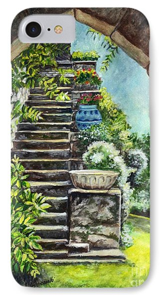 Les Escaliers En Bandouille In Sevres France  Phone Case by Carol Wisniewski