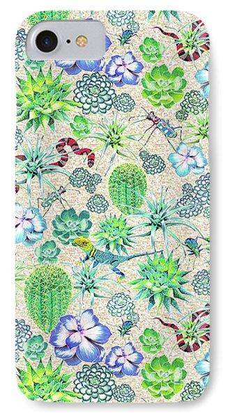Les Jardins Majorelle  Succulents IPhone Case by Jacqueline Colley