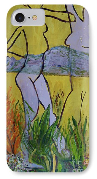 IPhone Case featuring the painting Les Nymphs D'aureille by Paul McKey