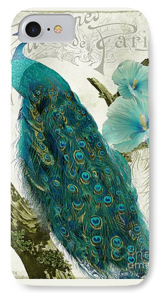 Peacock iPhone 7 Case - Les Paons by Mindy Sommers