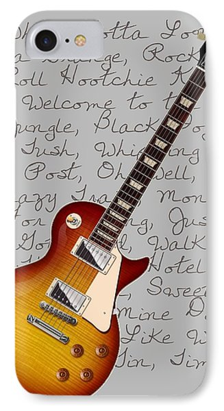 Les Paul Songs T-shirt IPhone Case by WB Johnston