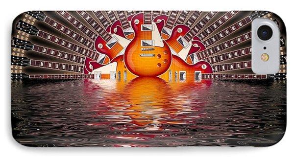 Les Paul Sunrise Shirt IPhone Case by WB Johnston