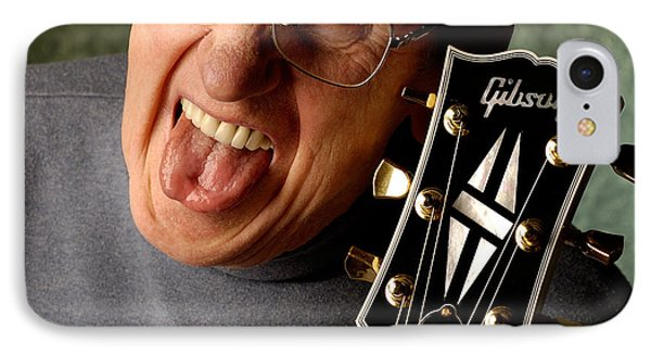 Les Paul With Tongue Out By Gene Martin IPhone Case