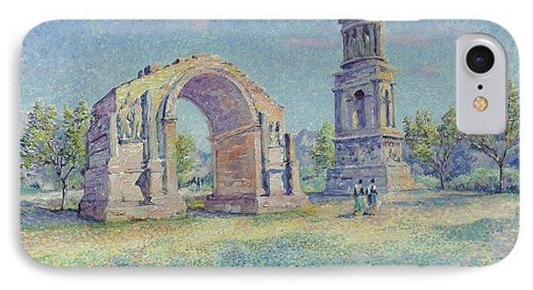 Les Ruines Romaines De Saint IPhone Case by MotionAge Designs
