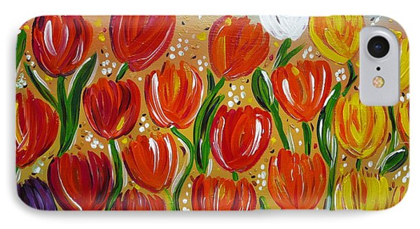 Les Tulipes - The Tulips IPhone Case by Gioia Albano