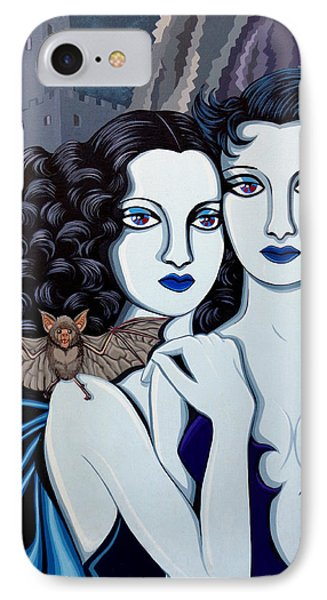 Les Vamperes Bleu IPhone Case