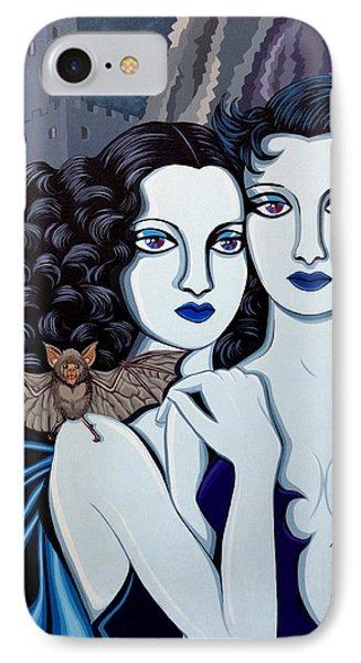 Les Vamperes Bleu IPhone Case by Tara Hutton