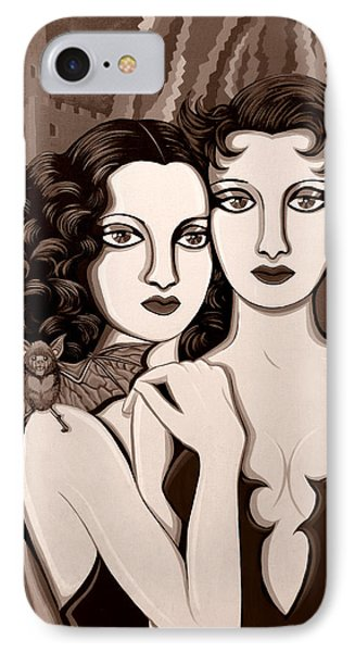 Les Vamperes In Sepia Tone Phone Case by Tara Hutton