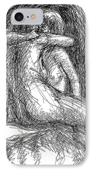 Lesbian Sketches  1 IPhone Case by Gordon Punt