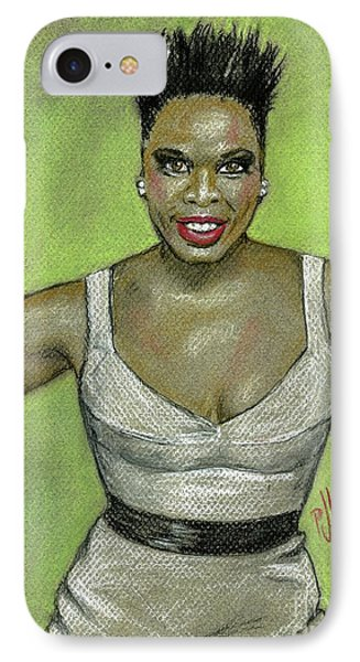 IPhone Case featuring the drawing Leslie Jones by P J Lewis