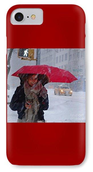 L Esprit De New York - Winter In New York IPhone Case by Miriam Danar