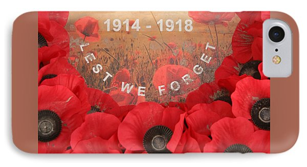 Lest We Forget - 1914-1918 IPhone Case by Travel Pics