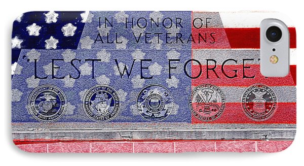 Lest We Forget With Flag Graphic IPhone Case