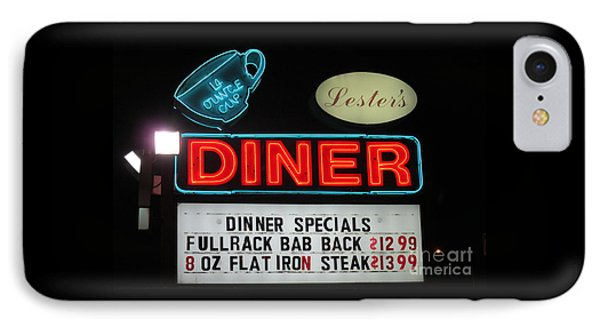 Lesters Diner IPhone Case by Randall Weidner