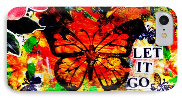 IPhone Case featuring the mixed media Let It Go by Genevieve Esson