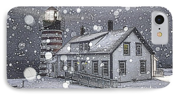 Let It Snow Let It Snow Let It Snow IPhone Case by Marty Saccone
