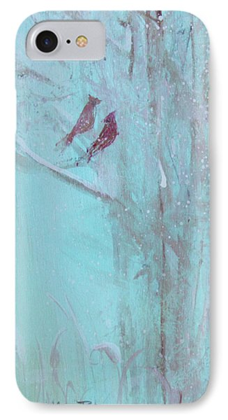 IPhone Case featuring the painting Let It Snow by Robin Maria Pedrero