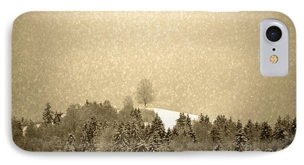 IPhone Case featuring the photograph Let It Snow - Winter In Switzerland by Susanne Van Hulst