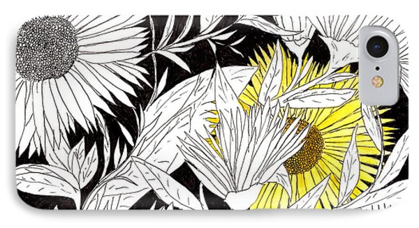 IPhone Case featuring the drawing Let Your Light Shine by Lou Belcher