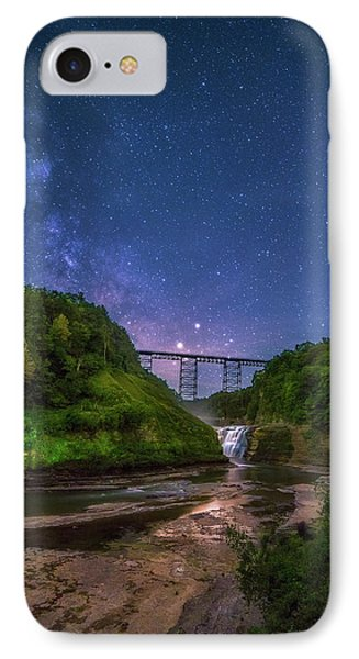 IPhone Case featuring the photograph Letchworth At Night by Mark Papke