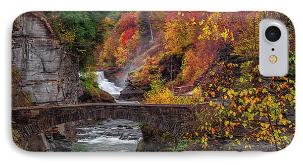 Letchworth Lower Falls IPhone Case by Mark Papke