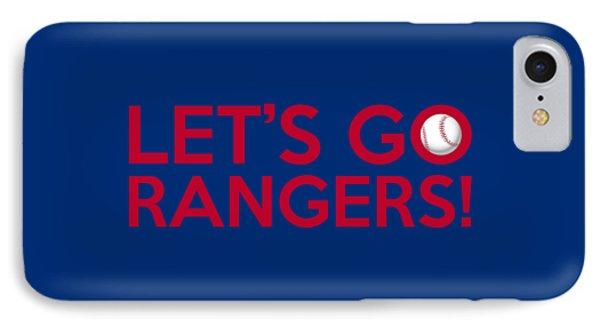 Let's Go Rangers IPhone Case by Florian Rodarte