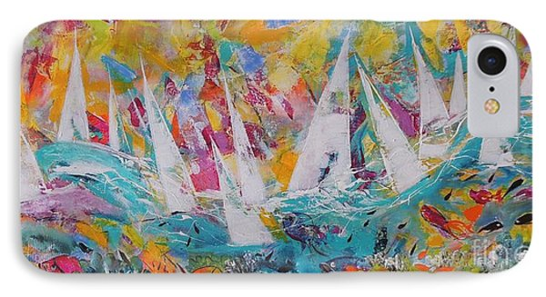IPhone Case featuring the painting Lets Go Sailing by Lyn Olsen