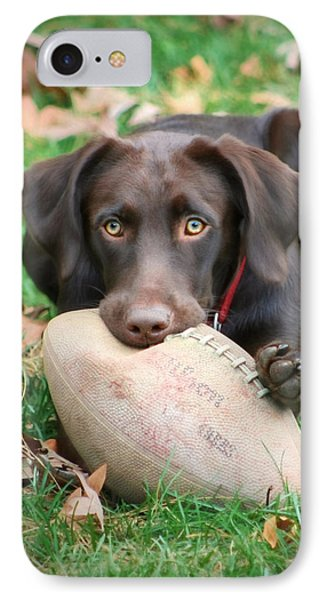 Let's Play Football Phone Case by Lori Deiter