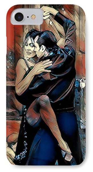IPhone Case featuring the digital art Let's Tango by Pennie McCracken
