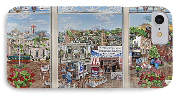Letter Carriers Picture Window Of Brooklyn IPhone Case by Bonnie Siracusa