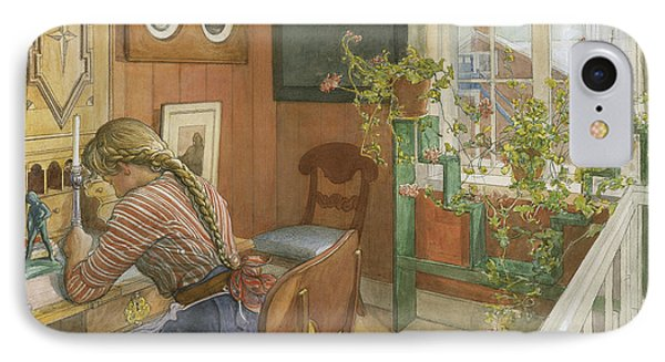 Letter-writing IPhone Case by Carl Larsson