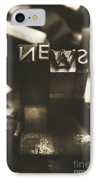 Letterpress And Vintage Journalism IPhone Case by Jorgo Photography - Wall Art Gallery