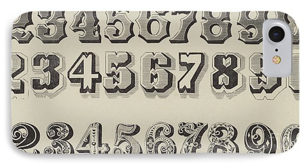 Letters And Numbers IPhone Case by English School