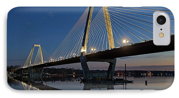 IPhone Case featuring the photograph Lewis And Clark Bridge - D009999 by Daniel Dempster