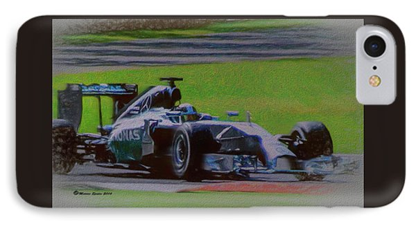 Lewis Hamilton IPhone Case by Marvin Spates