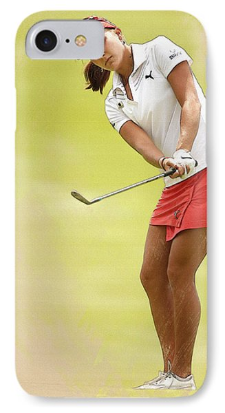 Lexi Thompson Chips To The First Green  IPhone Case