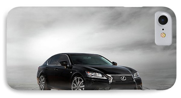 IPhone Case featuring the digital art Lexus Gs350 F Sport by Peter Chilelli
