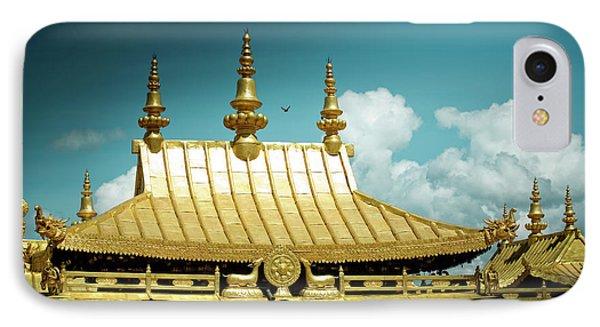 Lhasa Jokhang Temple Fragment Tibet Artmif.lv IPhone Case by Raimond Klavins