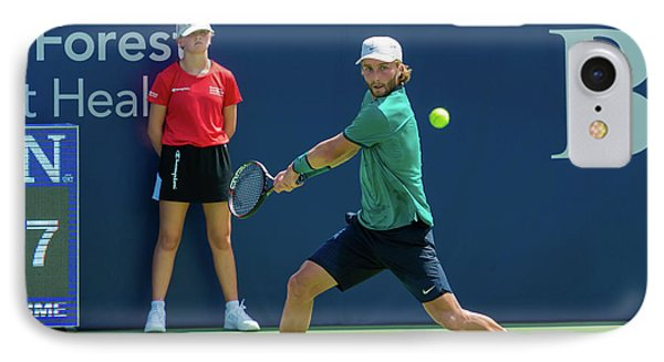 Liam Broady Plays Center Court At The Winston-salem Open IPhone Case