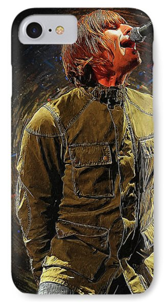 Liam Gallagher Oasis IPhone Case by Semih Yurdabak