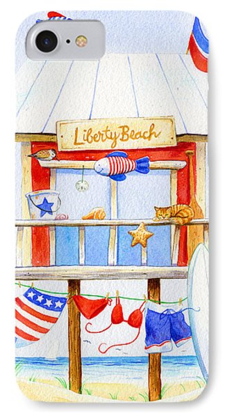 Liberty Beach IPhone Case by Laura Nikiel