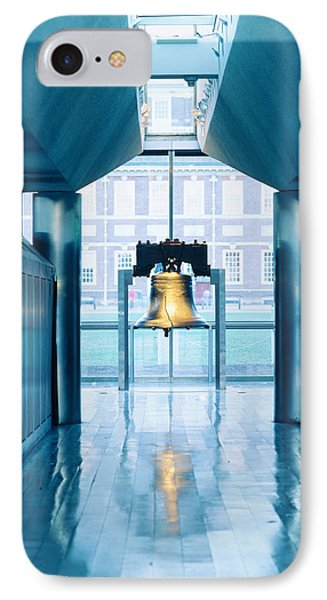 Liberty Bell Hanging In A Corridor IPhone Case