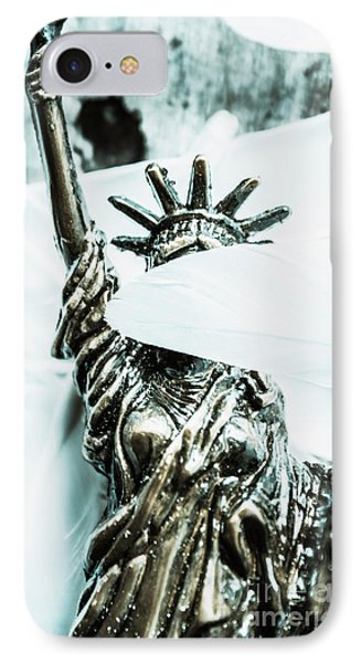 Liberty Blinded By Corruption IPhone Case by Jorgo Photography - Wall Art Gallery