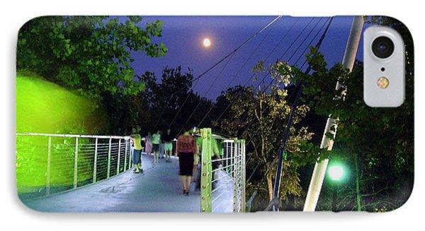 Liberty Bridge At Night Greenville South Carolina IPhone Case by Flavia Westerwelle