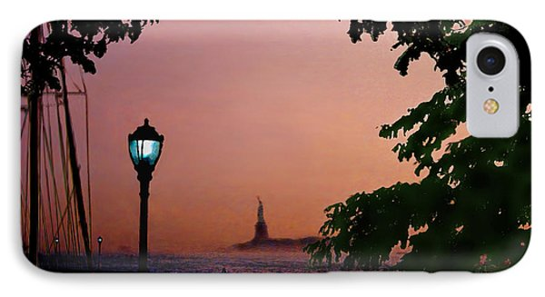 IPhone Case featuring the digital art Liberty Fading Seascape by Steve Karol