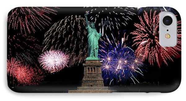 Liberty Fireworks 1 Phone Case by BuffaloWorks Photography