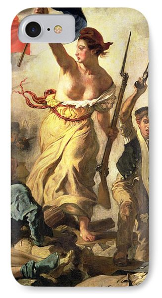 Liberty Leading The People Phone Case by Ferdinand Victor Eugene Delacroix